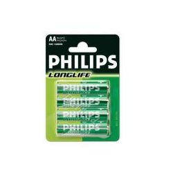 bateria cynkowo-węglowa Philips LongLife R6 AA (blister)