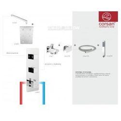 CORSAN Zestaw podtynkowy z termostatem, chrom CM-02T_30LEDW