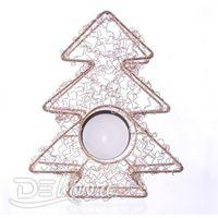 Świecznik świąteczny na tealighty ZŁOTA CHOINKA, dekoracyjny, podstawka pod świece