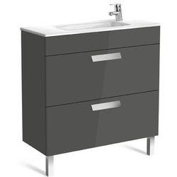 Zestaw łazienkowy Unik Compacto 80cm z 2 szufladami Roca Debba A855907153 Szary antracyt połysk