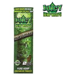 JUICY JAYS HEMP BLUNT WRAPS NATURAL bibułki konopne jointy